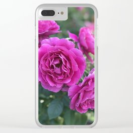 Last Rose of Fall Clear iPhone Case