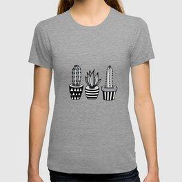 Cactus Plant monochrome cacti nature greyscale illustration floral succulent leaf home wall decor T-shirt