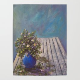Wildflowers on a Wood Table AC141213 Poster