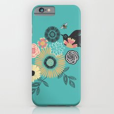Birds & Bees - Turquoise iPhone 6s Slim Case