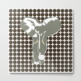 Cola Safari Dot with Pop Art Elephant Metal Print