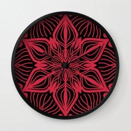 Darkly red Wall Clock