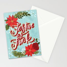 Pretty Sweary Holidays: Festive as Fuck Stationery Cards
