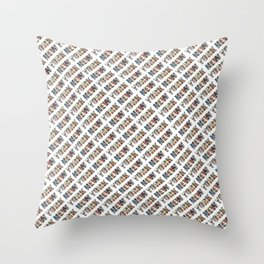 New York (diagonal typography) Throw Pillow