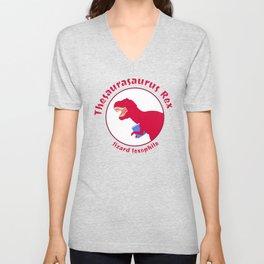 Thesaurasaurus Rex Unisex V-Neck