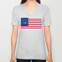 American Bennington flag - Authentic scale and color Unisex V-Neck