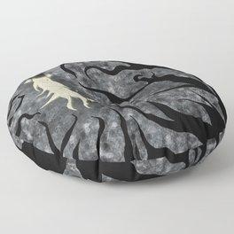 Silenced Secrets in the Thorns Floor Pillow