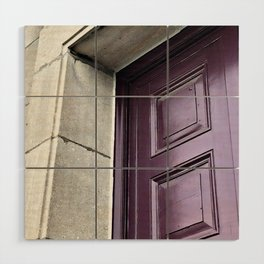 A Simple Purple Door Wood Wall Art