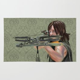 Daryl Dixon from The Walking Dead Rug