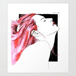 hair in rose Kunstdrucke