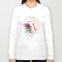 fashion illustration Long Sleeve T-shirts featuring FASHION ILLUSTRATION 3 by Justyna Kucharska