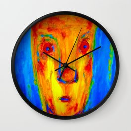 Enduring Red. Wall Clock