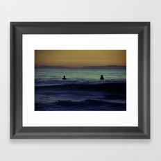 Silent Surf Framed Art Print
