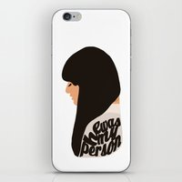 glee iPhone & iPod Skins featuring HE WAS MY PERSON (RACHEL BERRY - GLEE) by Amanda Voyce