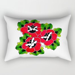 Traditional Roses  Rectangular Pillow