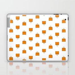 Orange Birkin Vibes High Fashion Purse Illustration Laptop & iPad Skin