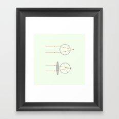 Prisms & Lenses - Convex Framed Art Print