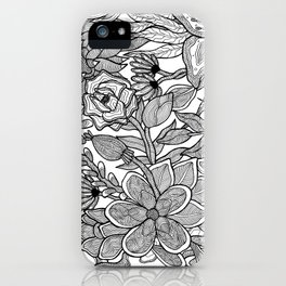 Floral Pattern Refraction iPhone Case