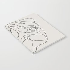 One Line Pug Notebook