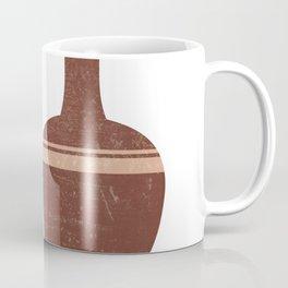 Greek Pottery 32 - Hydria - Terracotta Series - Modern, Contemporary, Minimal Abstract - Burnt Umber Coffee Mug