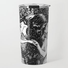The Nymph Caught the Dryad in Her Arms - HR Millar (1904) Travel Mug