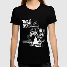 twigg boy (dark colors) Womens Fitted Tee Black SMALL