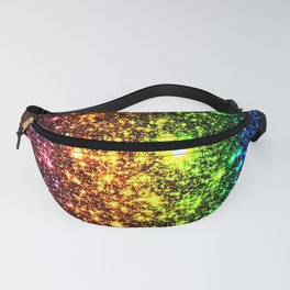 Rainbow Sparkle Galaxy Stars Fanny Pack