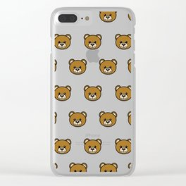 Moschino Bear 2 Clear iPhone Case