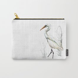 Mr Kotuku , New Zealand White Heron Carry-All Pouch