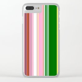 Vertical Lines Clear iPhone Case