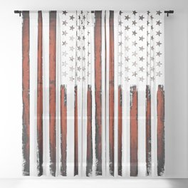 American flag Stars & stripes Sheer Curtain