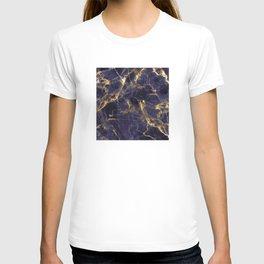 Majesty Purple Marble With 24-Karat Gold Hue Veins T-shirt