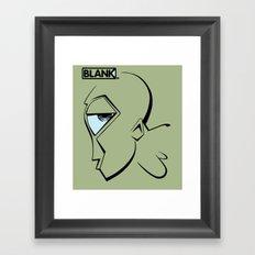 BLANKM GEAR - MR. GREEN T SHIRT Framed Art Print