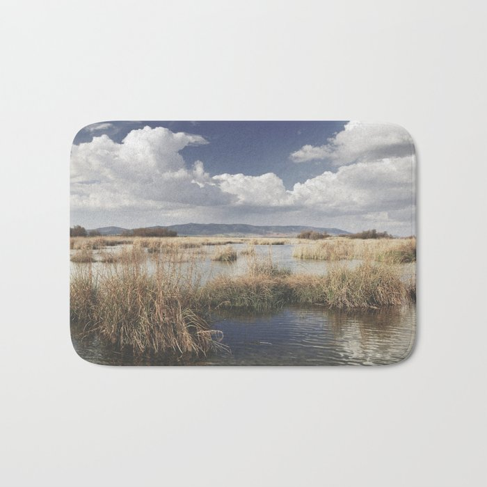 """""""Waiting for the storm"""" At the lake... Bath Mat"""