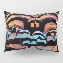 1333s-MAK Abstract Rearview Butt Up Pants Down Fingers in Front Pillow Sham
