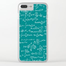 Math Equations // Teal Clear iPhone Case