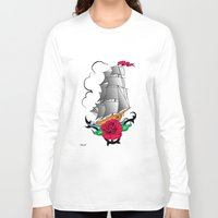 ship Long Sleeve T-shirts featuring ship by mark ashkenazi