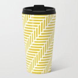 Herringbone 45 Yellow Travel Mug