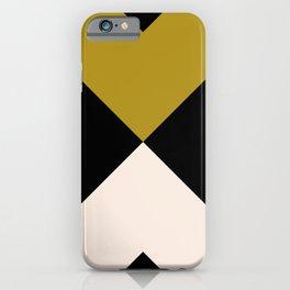 Minimal X Dark Olive iPhone Case