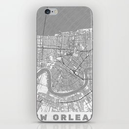 New Orleans Map Line iPhone Skin