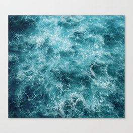 Blue Ocean Waves Canvas Print