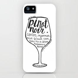 Pinot Noir iPhone Case