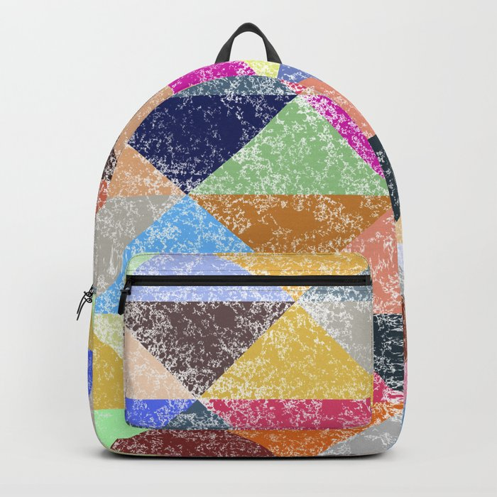 Color texture, Geometric background #2 Backpack