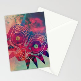 Watercolored Majora's Mask Stationery Cards