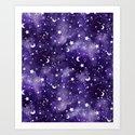 Zodiac Watercolor Ultraviolet by mjmstudio