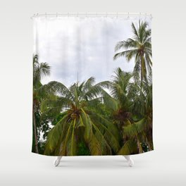 Palm Trees in the Sky Shower Curtain