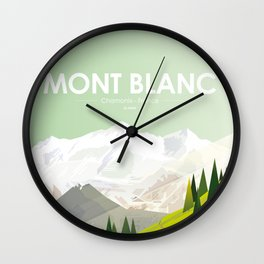 Alone In Nature - Là Haut Wall Clock
