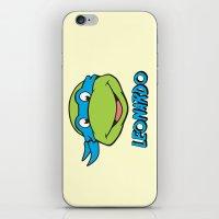 leonardo iPhone & iPod Skins featuring Leonardo by husavendaczek