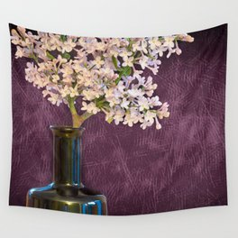 Lilac and Bottle Wall Tapestry