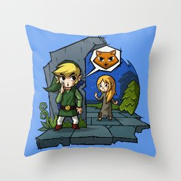 Legend of Zelda Wind Waker Meow T-Shirt Throw Pillow